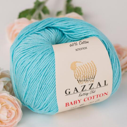 Gazzal Baby Cotton Mavi Bebek Yünü - 3451