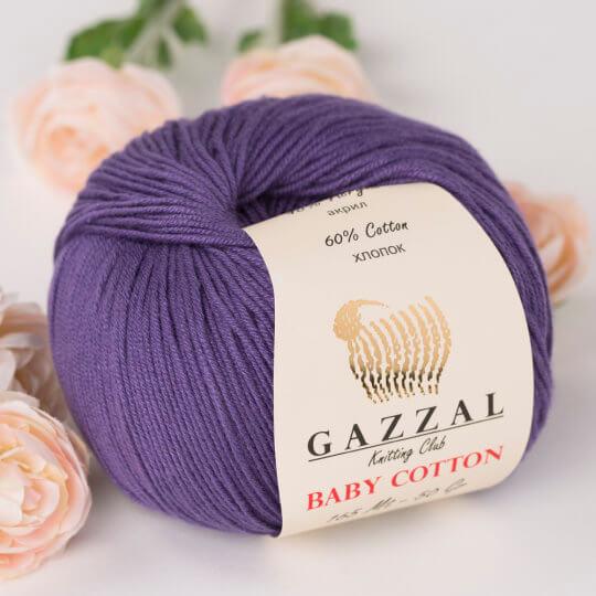 Gazzal Baby Cotton Mor Bebek Yünü - 3440