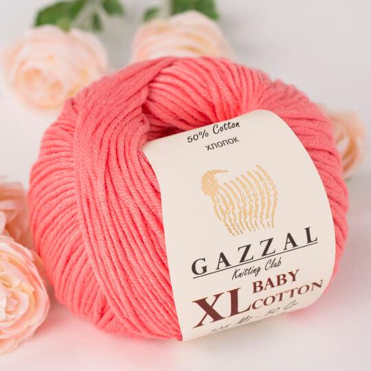 Gazzal Baby Cotton XL Pembe Bebek Yünü - 3435XL