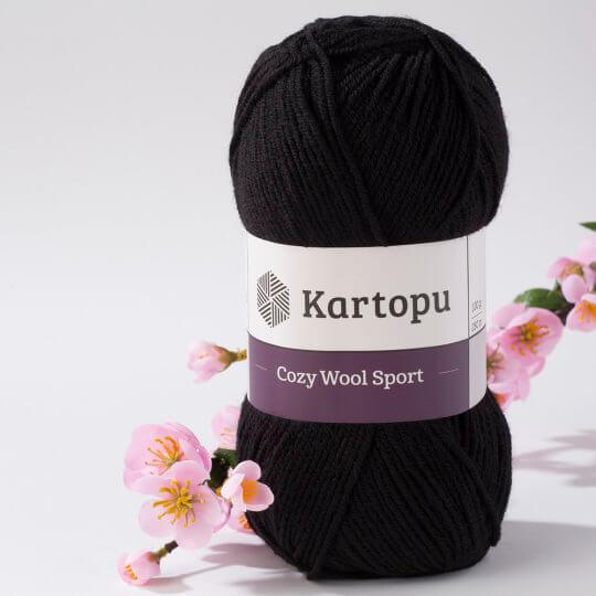 Kartopu Cozy Wool Sport Siyah El Örgü İpi - K940