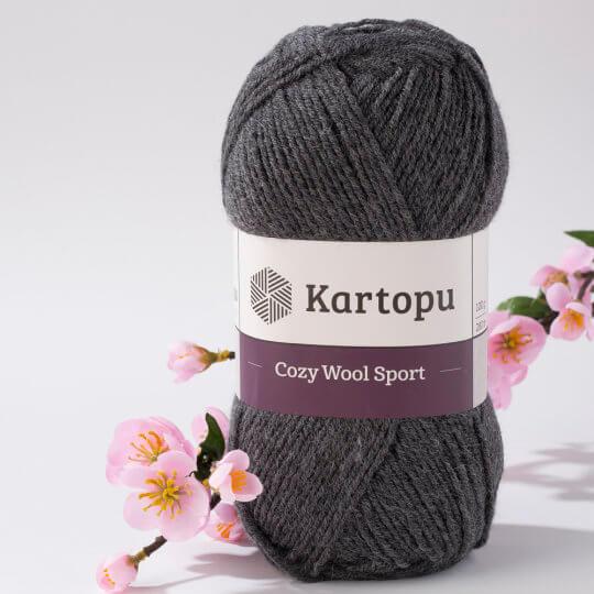Kartopu Cozy Wool Sport Füme El Örgü İpi - K1003