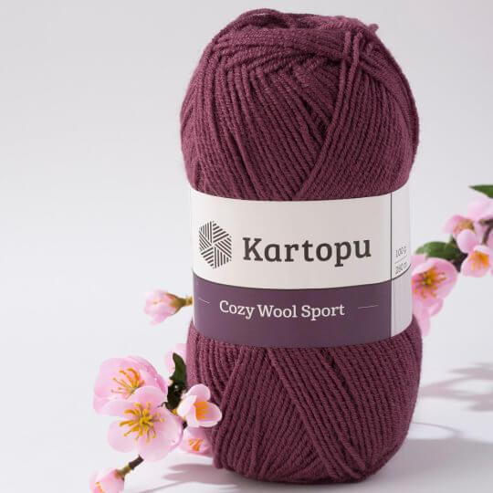 Kartopu Cozy Wool Sport Mürdüm El Örgü İpi - K1707