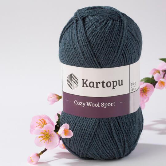 Kartopu Cozy Wool Sport Yeşil El Örgü İpi - K1480