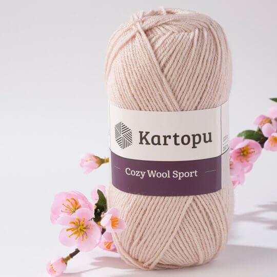 Kartopu Cozy Wool Sport Bej El Örgü İpi - K855