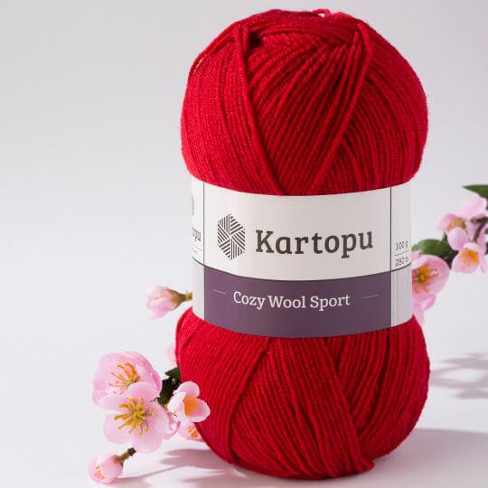 Kartopu Cozy Wool Sport Kırmızı El Örgü İpi - K420