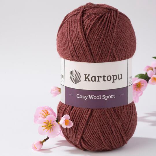 Kartopu Cozy Wool Sport Kahverengi El Örgü İpi - K1892