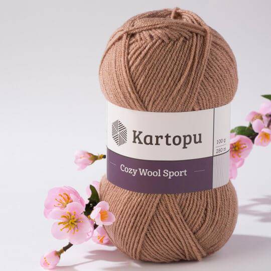 Kartopu Cozy Wool Sport Koyu Bej El Örgü İpi - K885