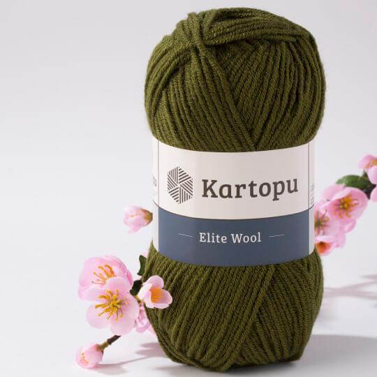 Kartopu Elite Wool Yarn, Dark Green - K410