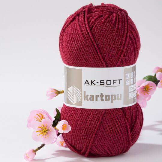 Kartopu Ak-Soft Bordo El Örgü İpi - K1105