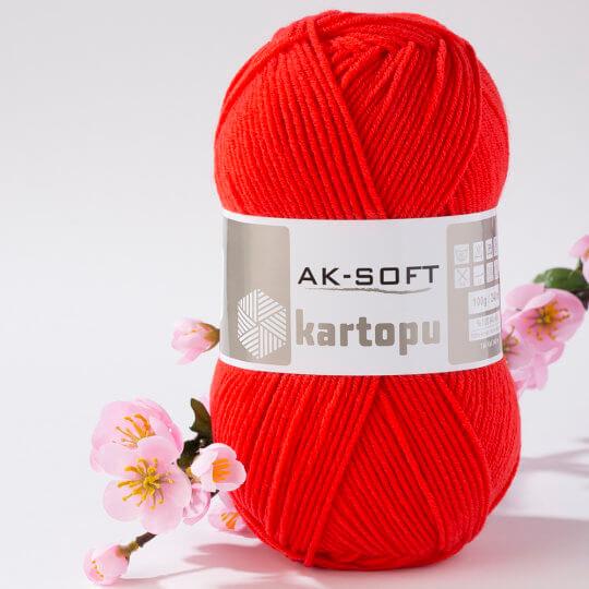 Kartopu Ak-Soft Kırmızı El Örgü İpi - K1170