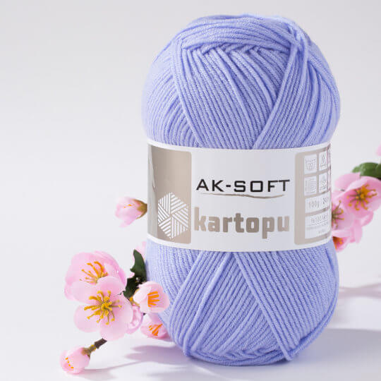 Kartopu Ak-Soft Lila El Örgü İpi - K1717