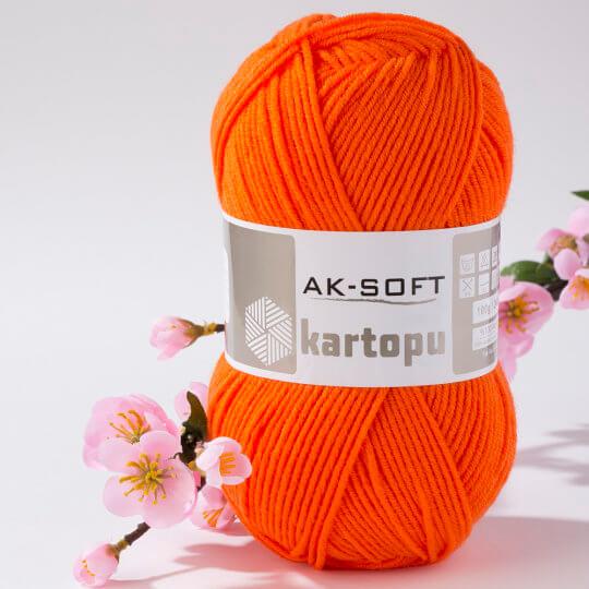Kartopu Ak-Soft Turuncu El Örgü İpi - K1211
