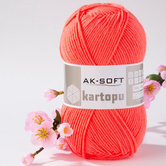 Kartopu Ak-Soft Nar Çiçeği El Örgü İpi - K1212