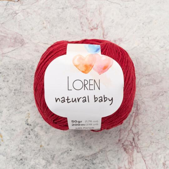 Loren Natural Baby Bordo El Örgü İpi - R099
