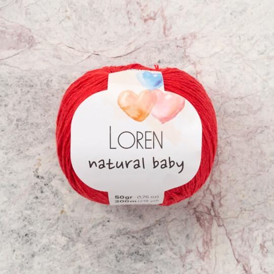 Loren Natural Baby Kırmızı El Örgü İpi - R003