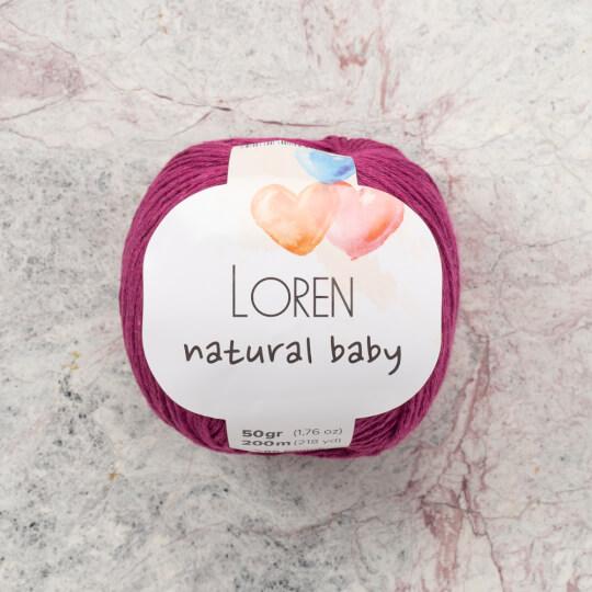 Loren Natural Baby Patlıcan Moru El Örgü İpi - R098