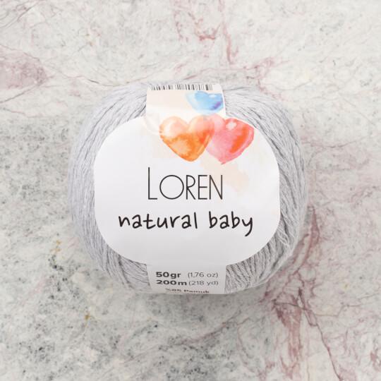 Loren Natural Baby Açık Gri El Örgü İpi - R080