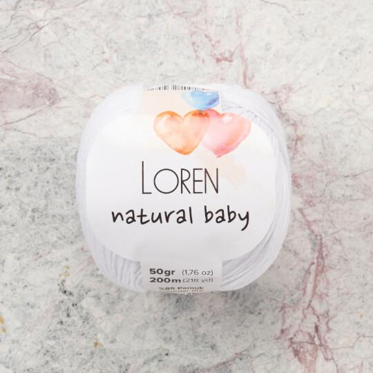 Loren Natural Baby Beyaz El Örgü İpi - R001