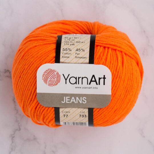 YarnArt Jeans Neon Turuncu El Örgü İpi - 77
