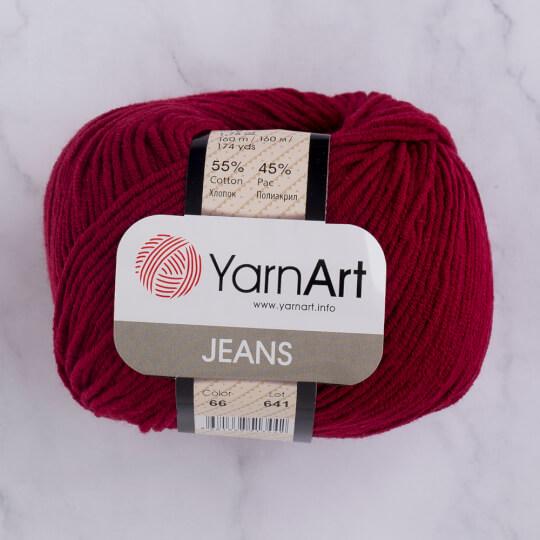 YarnArt Jeans Bordo El Örgü İpi - 66