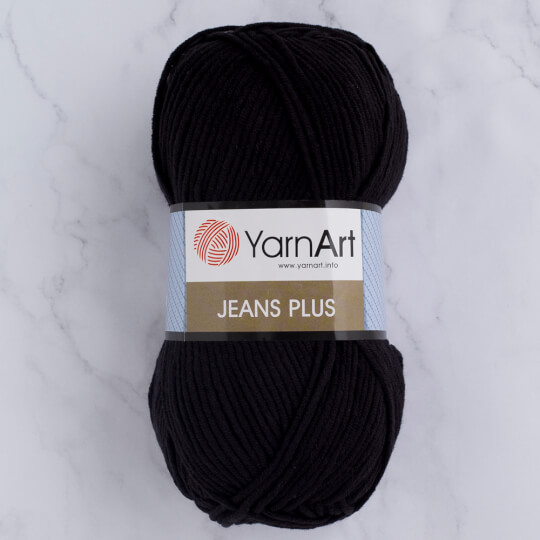 YarnArt Jeans Plus Siyah El Örgü İpi - 53