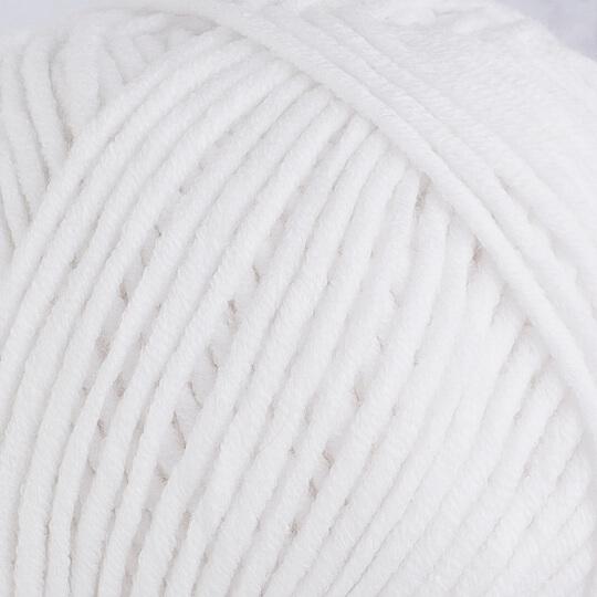 YarnArt Jeans Plus Beyaz El Örgü İpi - 62