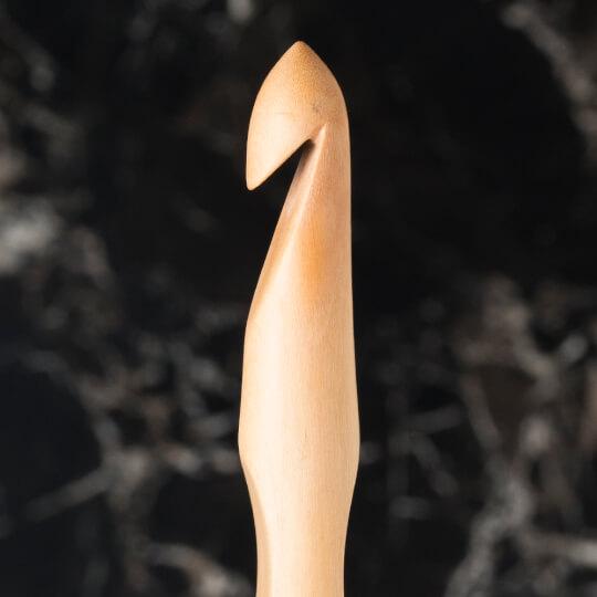 La Mia Whitewood 12 mm 15.5 cm Ahşap Yün Tığ
