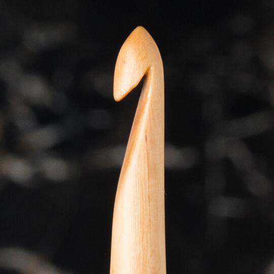 La Mia Whitewood 5 mm 15.5 cm Ahşap Yün Tığ