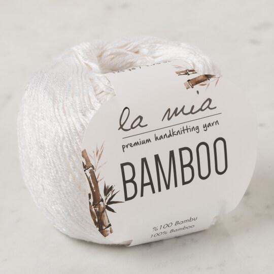 La Mia Bamboo Beyaz El Örgü İpi - L001