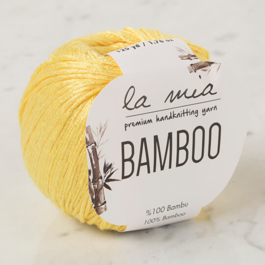 La Mia Bamboo Sarı El Örgü İpi - L160