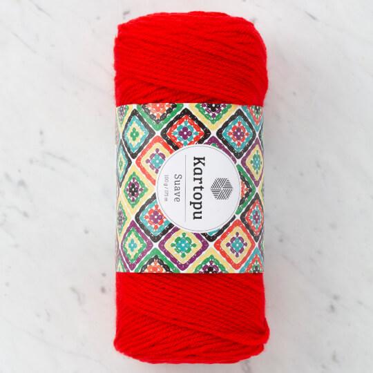 Kartopu Suave Kırmızı El Örgü İpi - K150