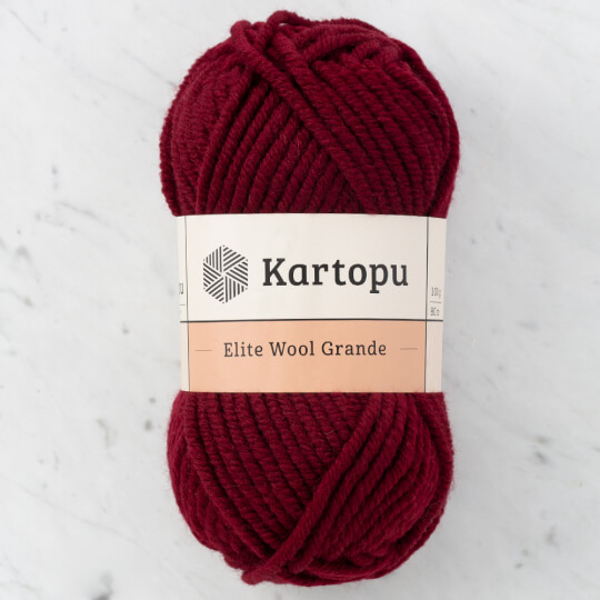 Kartopu Elite Wool Grande Bordo El Örgü İpi - K110
