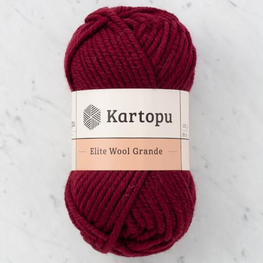 Kartopu Elite Wool Grande Koyu Bordo El Örgü İpi - K1119