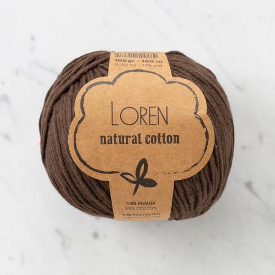Loren Natural Cotton Kahverengi El Örgü İpi - R035