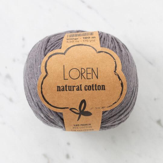 Loren Natural Cotton Antrasit El Örgü İpi - R082