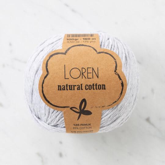 Loren Natural Cotton Açık Gri El Örgü İpi - R080