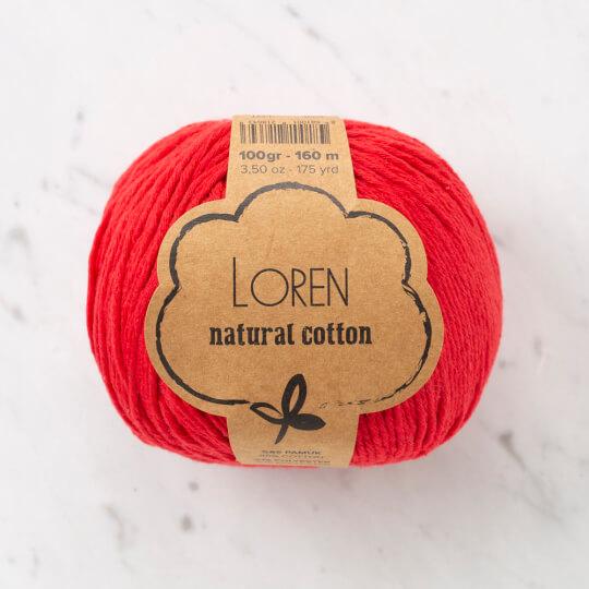 Loren Natural Cotton Kırmızı El Örgü İpi - R003