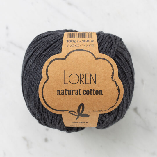 Loren Natural Cotton Füme El Örgü İpi - R081