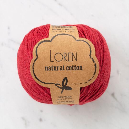 Loren Natural Cotton Vişne Çürüğü El Örgü İpi - R099