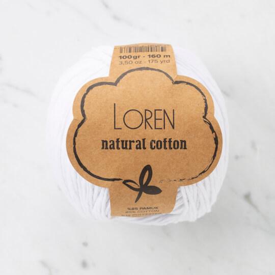 Loren Natural Cotton Beyaz El Örgü İpi - R001