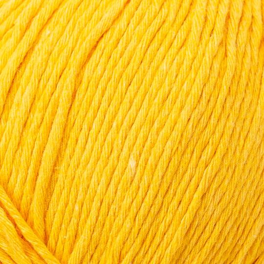 Loren Natural Cotton Hardal Sarı El Örgü İpi - R002