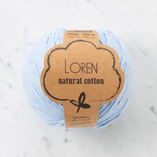 Loren Natural Cotton Bebe Mavi El Örgü İpi - R090