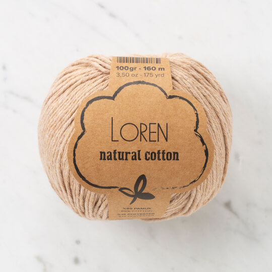 Loren Natural Cotton Ten Rengi El Örgü İpi - R084
