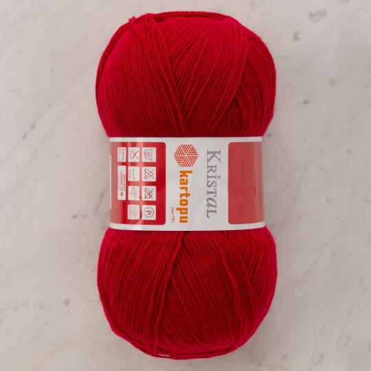 Kartopu Kristal Kırmızı El Örgü İpi - K1120