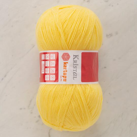 Kartopu Kristal Sarı El Örgü İpi - K1336