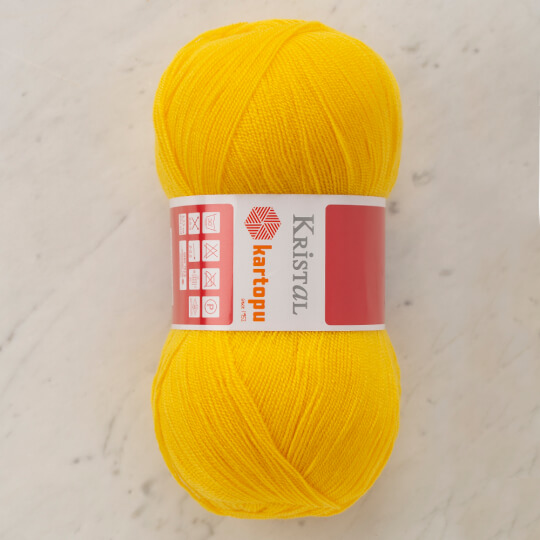 Kartopu Kristal Koyu Sarı El Örgü İpi - K301