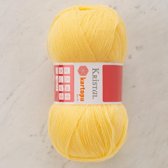 Kartopu Kristal Bebe Sarı El Örgü İpi - K327