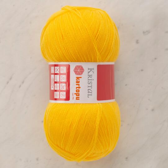 Kartopu Kristal Koyu Sarı El Örgü İpi - K1330