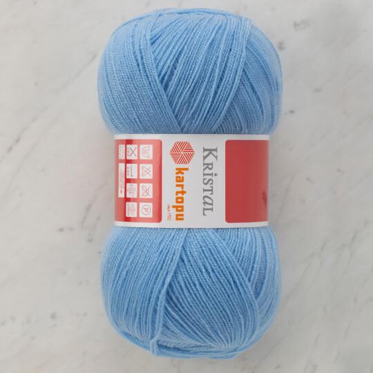 Kartopu Kristal Açık Bebe Mavi El Örgü İpi - K1649