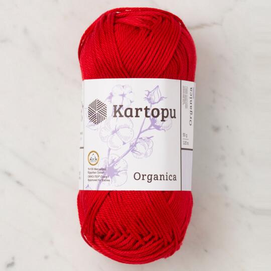 Kartopu Organica 50gr Kırmızı El Örgü İpi - K1124